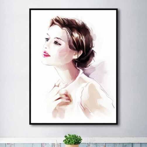 Tranh chân dung nghệ thuật cô gái