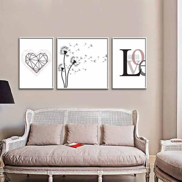 Tranh về tình yêu đơn giản phù hợp với các cô gái yêu sự lãng mạn