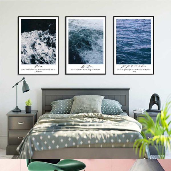 Tranh phong cảnh biển treo phòng ngủ