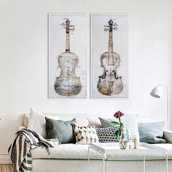 Tranh đàn violin