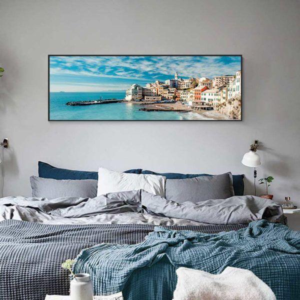 Tranh phong cảnhBogliasco treo đầu giường