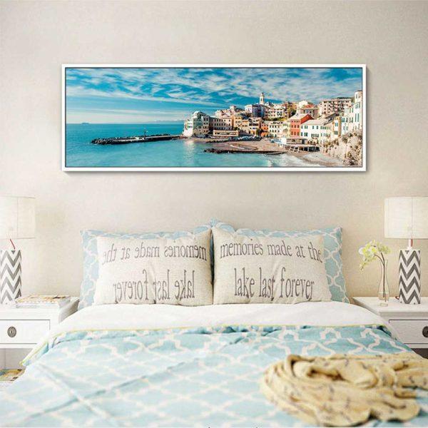 Tranh phong cảnhBogliasco treo phòng ngủ