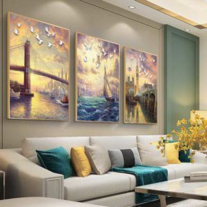 Tranh phong cảnh treo phòng khách