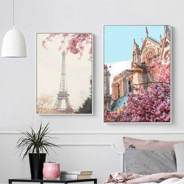 Tranh phong cảnh thành phố treo phòng khách