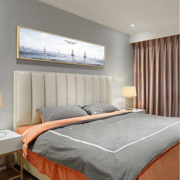 Tranh thuyền và biển treo phòng ngủ