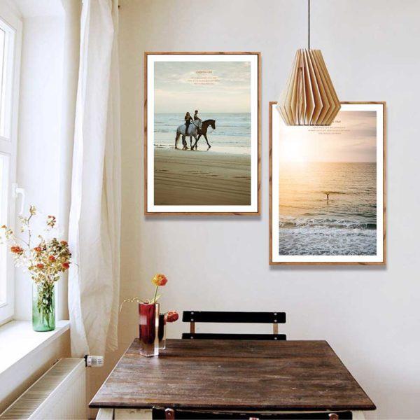 tranh scandinavia phong cảnh treo phòng ăn