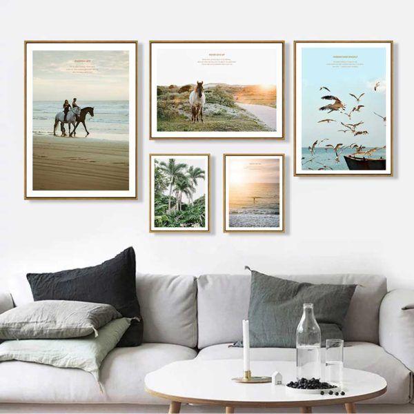 tranh scandinavia phong cảnh treo phòng khách