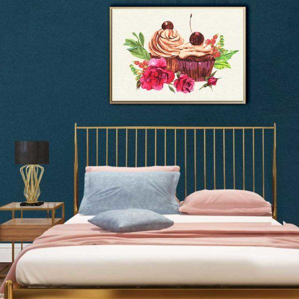 Tranh bộ sacandinavian treo phòng ngủ