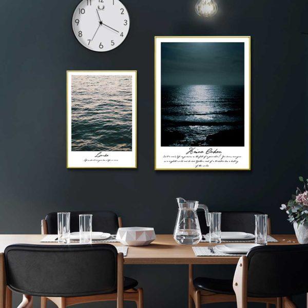 Tranh phong cảnh biển treo phòng ăn