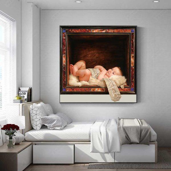 tranh em bé treo phòng ngủ