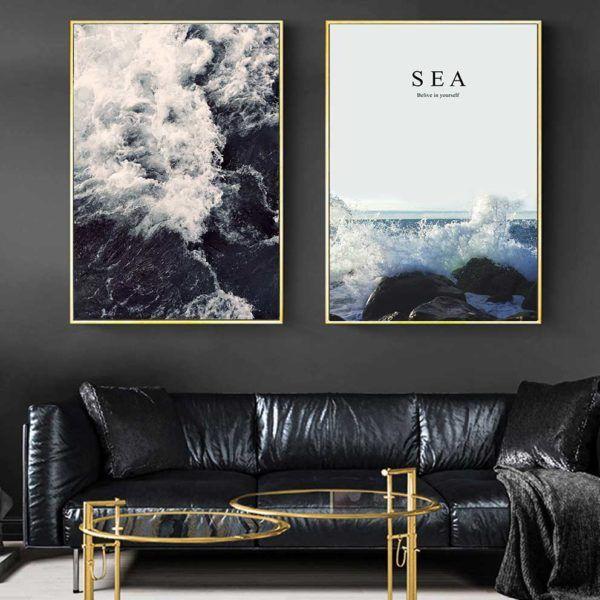 tranh phong cảnh biển treo phòng khách