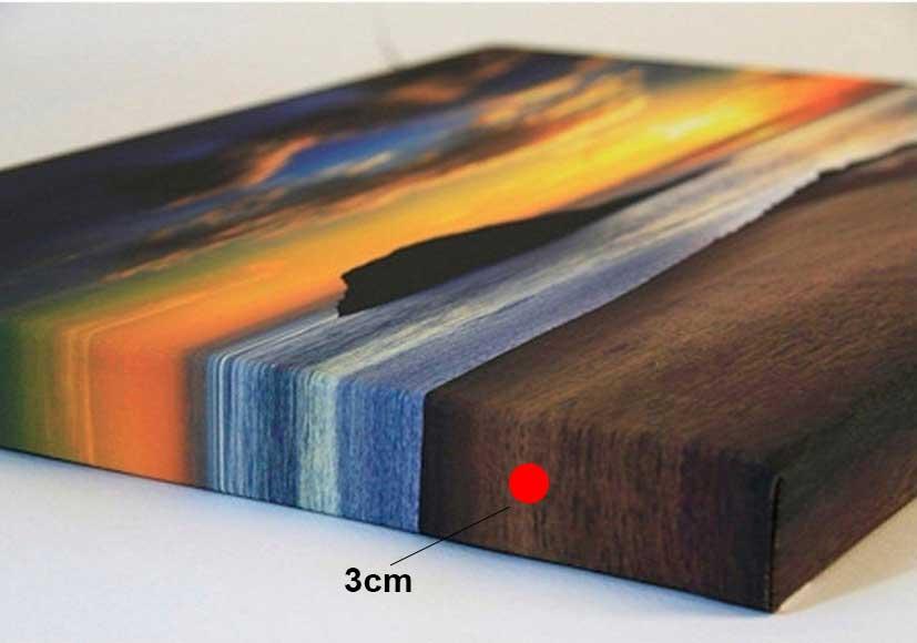 Tranh in canvas không khung viền