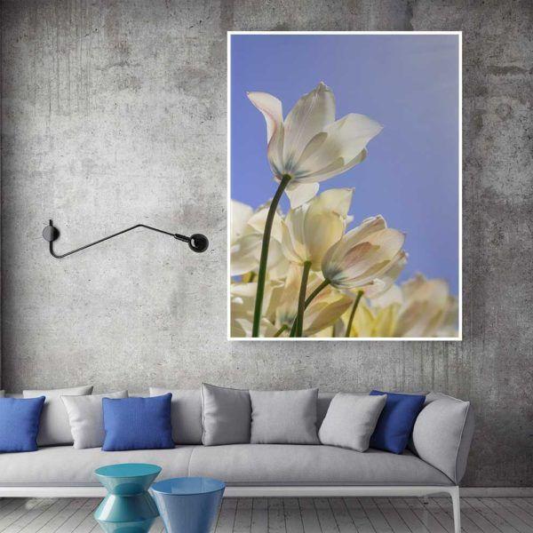 Tranh hoa tulip treo ghế sofa
