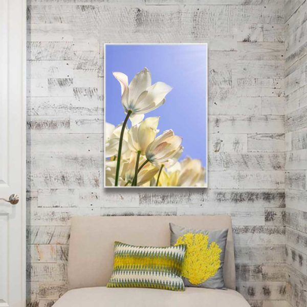 Tranh hoa tulip treo phòng ngủ