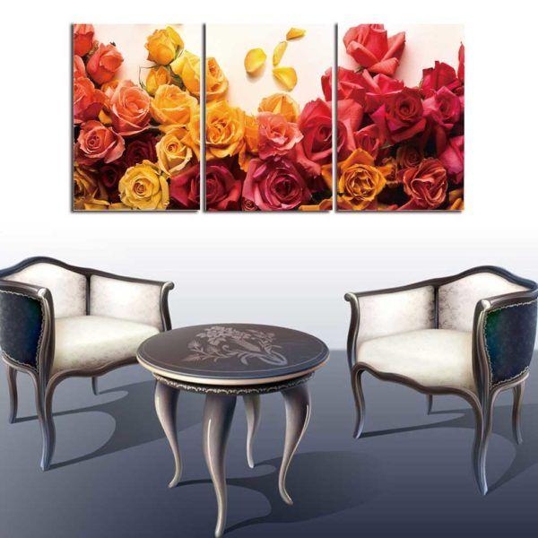 tranh hoa hồng treo tường trắng