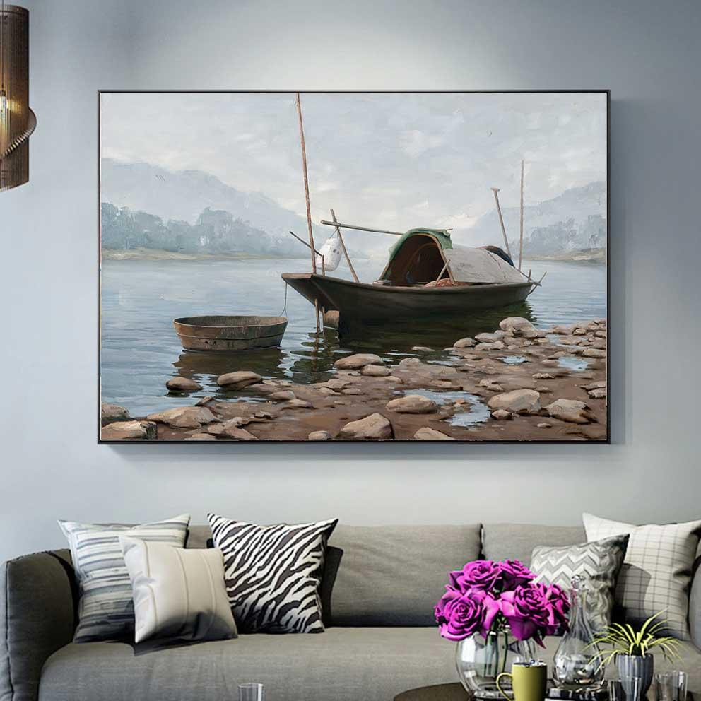 Tranh phong cảnh thuyền
