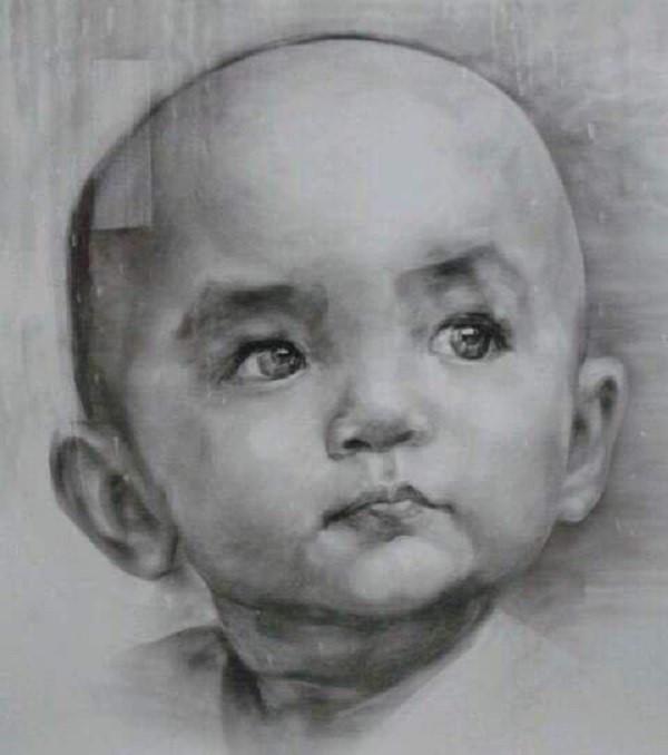 Tranh chân dung của một đứa trẻ sơ sinh