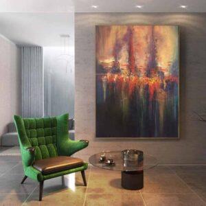 Cách chọn tranh treo phòng khách cho phù hợp với không gian nội thất